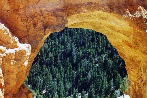 Arch, Rock, Desert, Southwest, Semicircle, Landscape