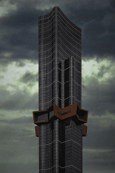 Tall, Sky, Architecture, Skyscrapers, City, Modern