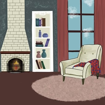 Living Room, Armchair, Interior Design