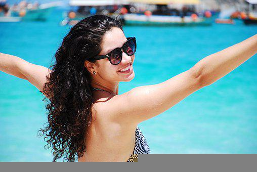 Woman, Bikini, Beach, Tourist, Girl