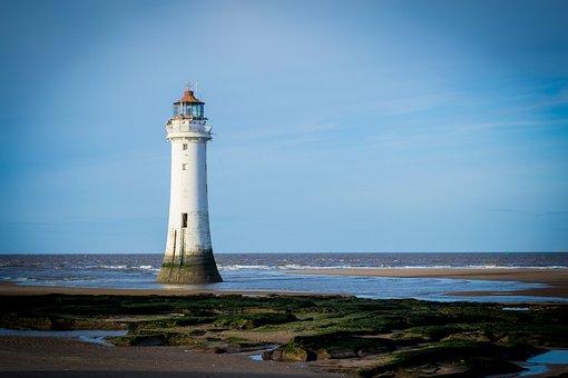 Lighthouse, Beach, Coast, Sea, Ocean