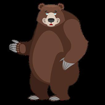 Bear, Animals, Wild, Transparent, Cartoon, Happy