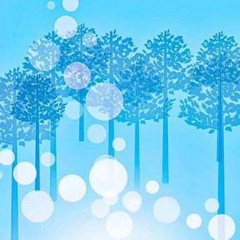 Digital Paper, Forest, Winter, Bokeh
