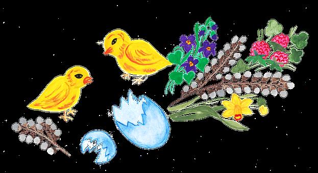 Easter, Easter Eggs, Eggs, Chicken