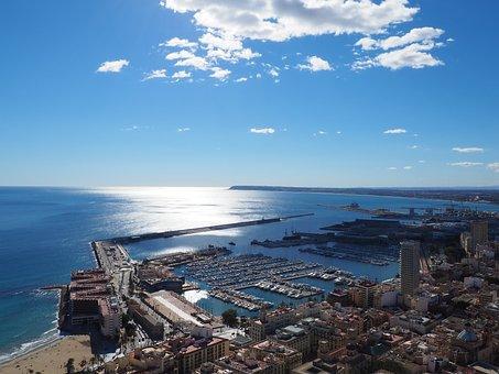 Alicante, City, Spain, Sea, Landscape, Benidorm