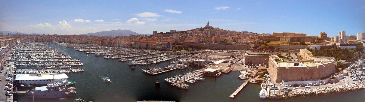 Marseille, City, Skyline, Panorama, France, Travel