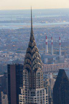 Chrysler, Building, Nyc, Manhattan, Downtown