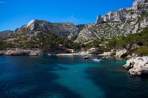 Les Calanques, Harbour, Marseille, France, Boat, Port