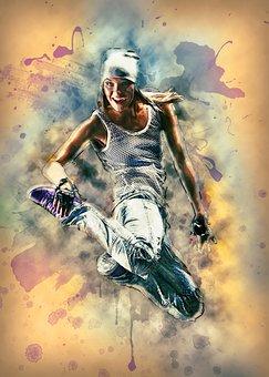 Woman, Jumping, Dancing, Dancer, Girl, Female Dancer