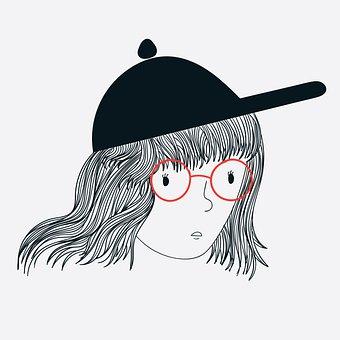 Woman, Fashion, Cap, Face, Glasses, Eyeglasses