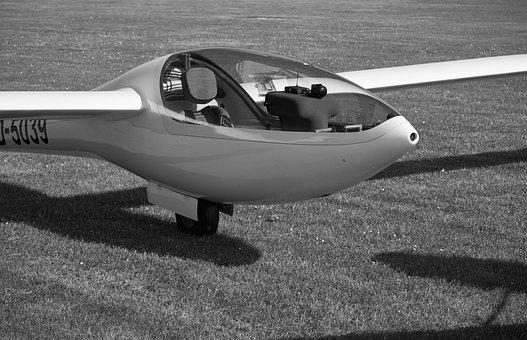 Glider, Aircraft, Hull, Wings, Cabin