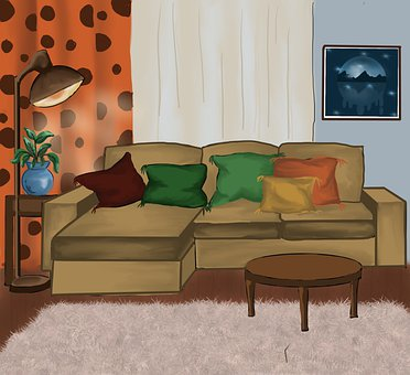 Living Room, Sofa, Interior Design, Couch, Seat