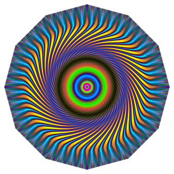 Symmetry, Mandala, Kaleidoscope, Neon, Decorative