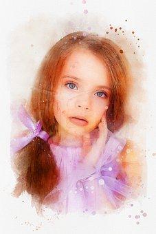 Girl, Child, Photo Art, Kid, Female, Face, Pretty