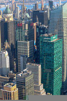 Skyline, Building, Buildings, Manhattan, Downtown
