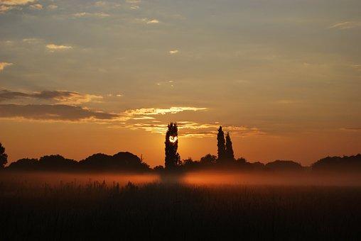 Sunset, Orange, Sky, Dusk, Landscape, Love, Heart