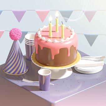 Cake, Party, Food, Birthday Cake, Dessert, Chocolate