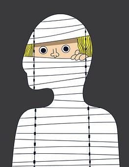 Mummy, Peek, Halloween, Character, Egyptian Mummy