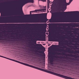 Crucifix, Jesus Christ, Rosary, Lent, Purple, Sacrifice