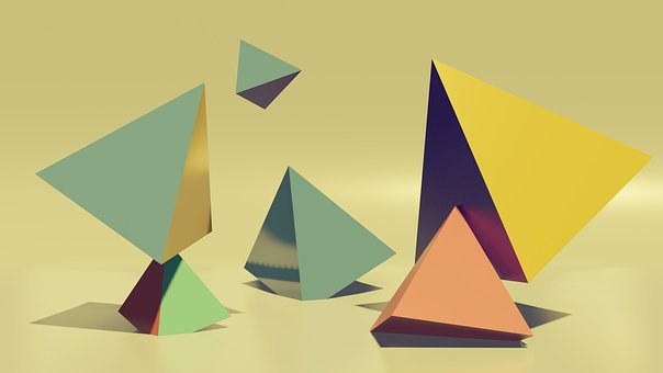 Abstract, Pyramid, 3d, Geometry, Objects, Modern
