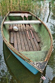 Boat, Fishing, Row, River, Nature