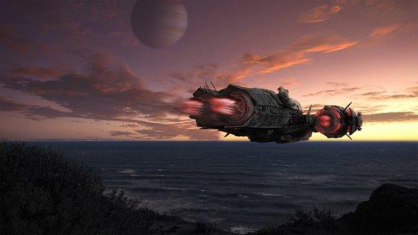 Spaceship, Space, Rocket, Space Travel, Future, Sci-fi