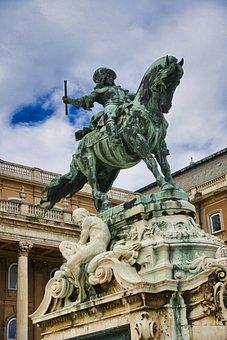 Statue, Sculpture, Monument, Budapest, Memorial, Horse