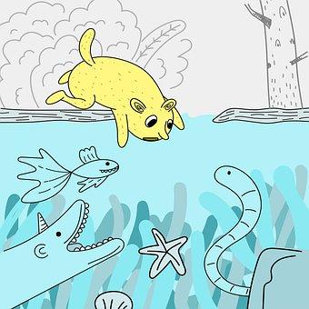 Animals, Underwater, Zoo, Aquatic, Sea, Ocean, Cute