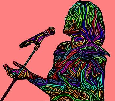 Singer, Colorful, Digital Art, Psychedelic, Singing