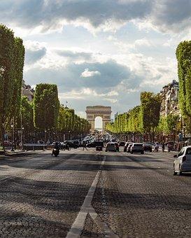 Paris, The Arc De Triomphe, France, Architecture, City