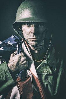 Man, American, Soldier, Hero, World, War, Usa, Warrior