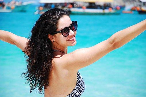 Woman, Bikini, Beach, Tourist, Girl, Leisure, Vacation