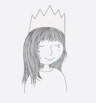 Girl, Cry, Crown, Sad, Unhappy, Face, Child, Kid, Young