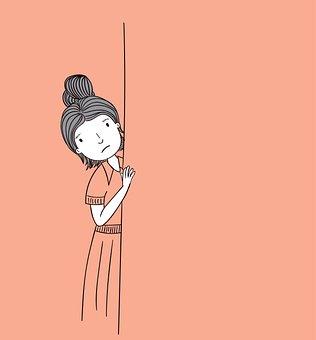 Girl, Hiding, Sad, Unhappy, Worried, Woman, Young