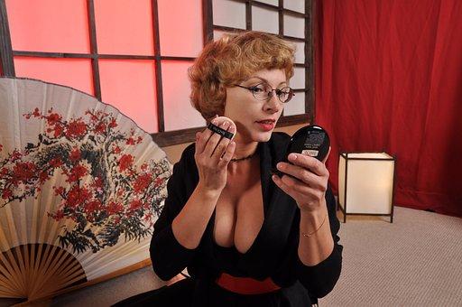 Makeup, Women, Japan, China, Blonde