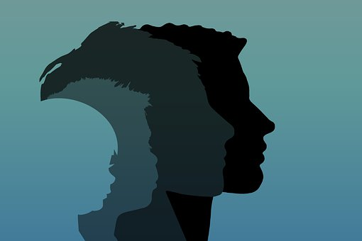 Family, Head, Silhouette, Father, Mother, Child, Boy