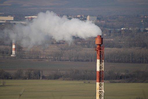 Chimney, Smoke, Environmental Pollution, Smog, Factory