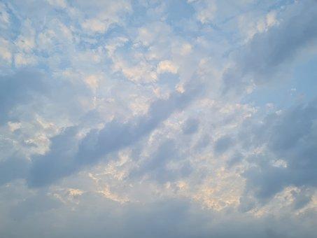 Cielo, Nubes, Natural, Sunset, Paisaje, Sky, Sunlight