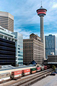 Calgary Tower, Cityscape, Calgary, Tower, Canada
