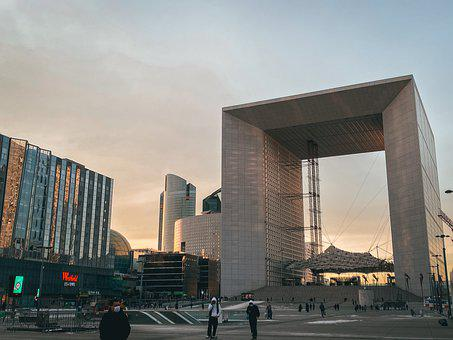Paris, Defense, Facade, Futuristic, Architecture, Glass