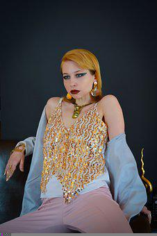 Woman, Model, Portrait, Fashion, Style, Hairstyle