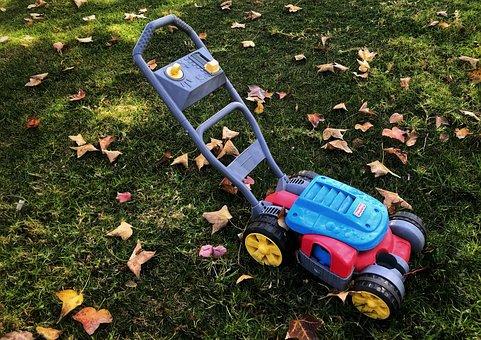 Lawn Mower, Toy, Toys, Yard, Frontyard, Lawn, Children