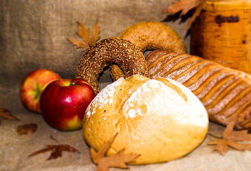 Bread, Apple, Food, Fruit, Red Apple, Snack, Nutrition