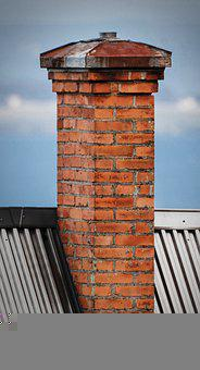 Chimney, Brick, Roof, Views, Himmel, House