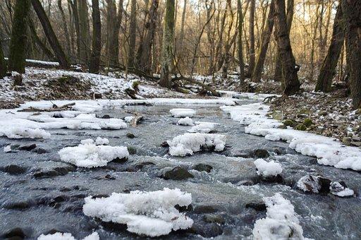 Dome Gate Falls, Beech Stream, Winter, Ice, Nature