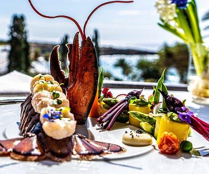 Lobster, Prepared, Sea, Seascape, Food, Outside