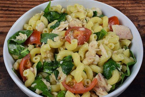 Macaroni Salad, Pasta, Elbow Macaroni, Tomatoes