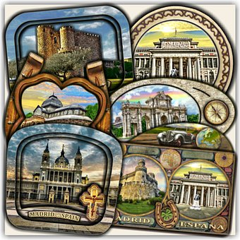 Madrid, Spain, Landmarks, Souvenirs, Travel, Magnets