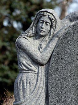 Tombstone, Angel, Marble, Statue, Sculpture