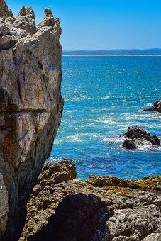 Rock, Ocean, Hermanus, South Africa, Coast, Seashore